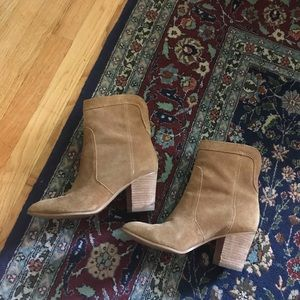 Ivanka Trump booties leather tan suede 8.5 boots